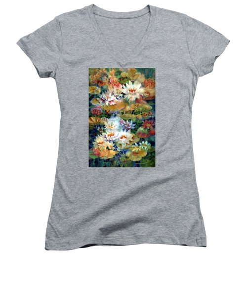 Water Garden II Women's V-Neck (Athletic Fit)