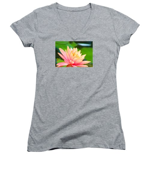 Floating Water Lily  Women's V-Neck (Athletic Fit)