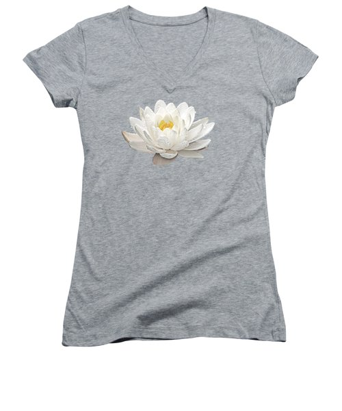 Water Lily Whirlpool Women's V-Neck (Athletic Fit)