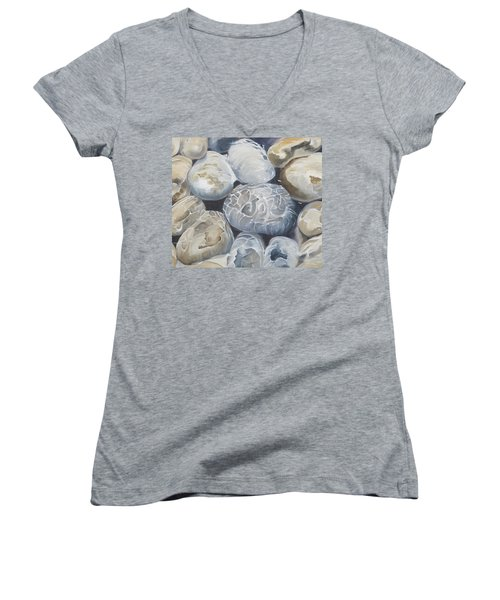 Water Of Pebbles Women's V-Neck (Athletic Fit)