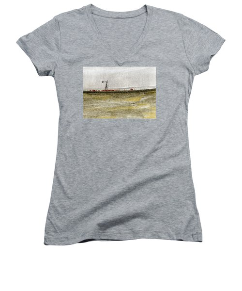 Water, Ranching, And Cattle Women's V-Neck T-Shirt (Junior Cut) by R Kyllo