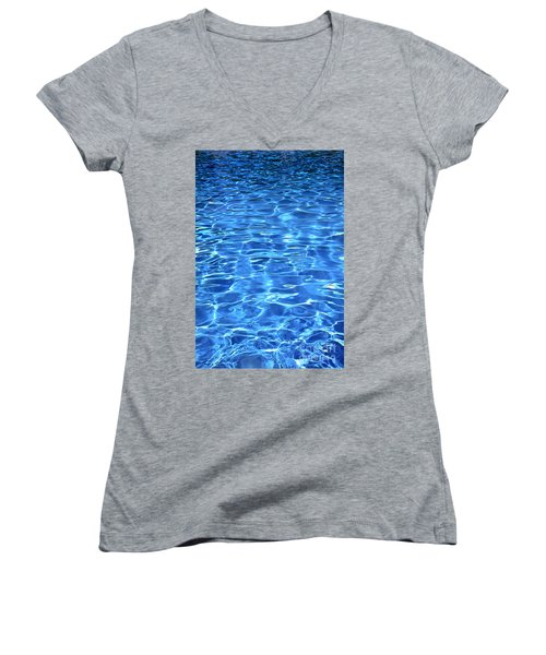 Women's V-Neck T-Shirt (Junior Cut) featuring the photograph Water Shadows by Ramona Matei