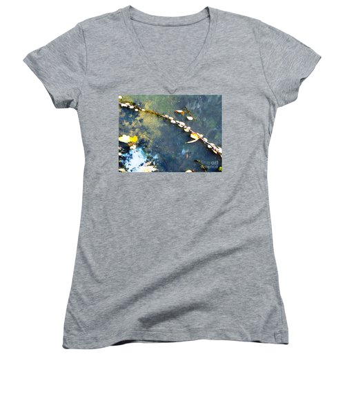 Water, Sky, Stick Women's V-Neck (Athletic Fit)