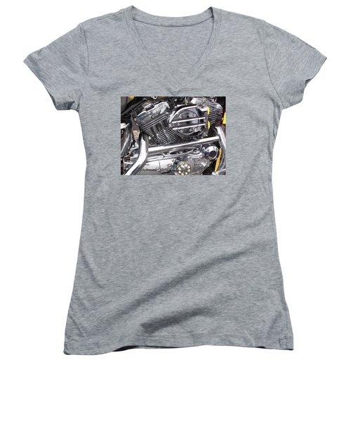 Women's V-Neck T-Shirt featuring the photograph Water Spots by John Schneider