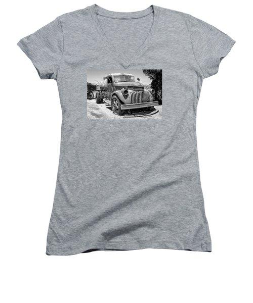 Water Truck - Chevrolet Women's V-Neck T-Shirt