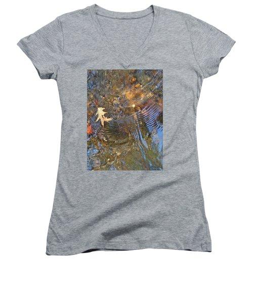 Water World 218 Women's V-Neck T-Shirt (Junior Cut) by George Ramos