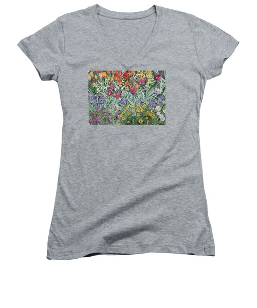 Watercolor - Empress Hotel Gardens Women's V-Neck