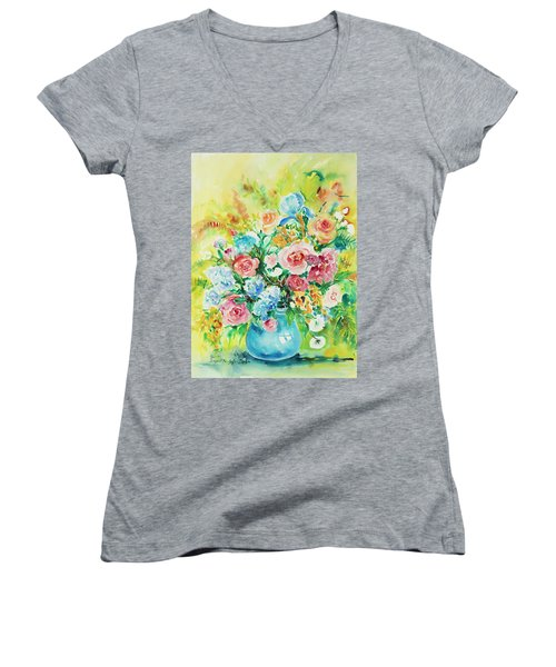 Watercolor Series 120 Women's V-Neck (Athletic Fit)