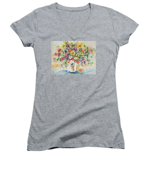 Watercolor Series 33 Women's V-Neck