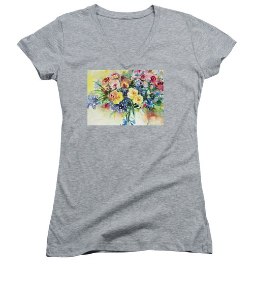 Watercolor Series 62 Women's V-Neck T-Shirt