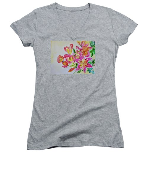 Watercolor Series No. 225 Women's V-Neck (Athletic Fit)
