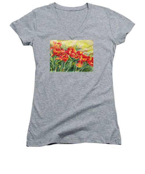 Watercolor Series No. 241 Women's V-Neck