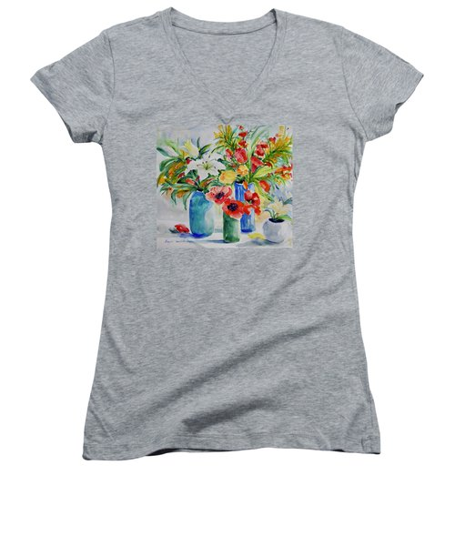 Watercolor Series No. 256 Women's V-Neck