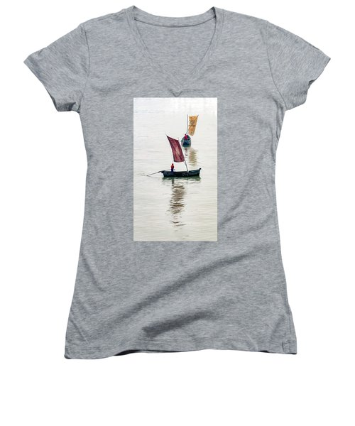 Watercolor. Women's V-Neck