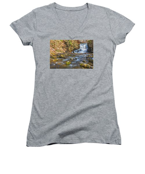 Waterfall Of April Snow Women's V-Neck (Athletic Fit)