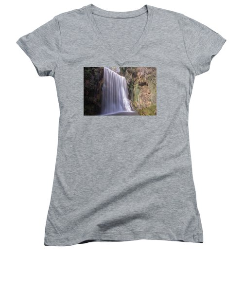 Waterfall With The Silk Effect Women's V-Neck