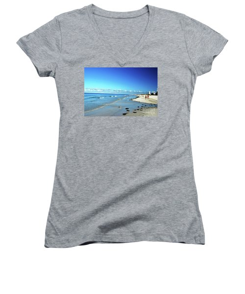 Women's V-Neck T-Shirt featuring the photograph Water's Edge by Gary Wonning