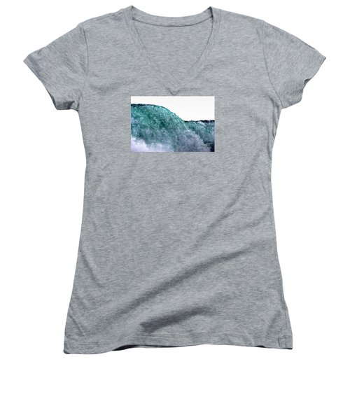 Women's V-Neck T-Shirt (Junior Cut) featuring the photograph Wave Rider by Dana DiPasquale