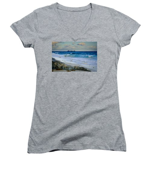 Waves And Tankers Women's V-Neck