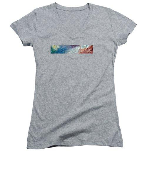 Waves Of Color Women's V-Neck T-Shirt