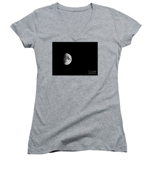 Waxing Gibbous - 2 Women's V-Neck (Athletic Fit)