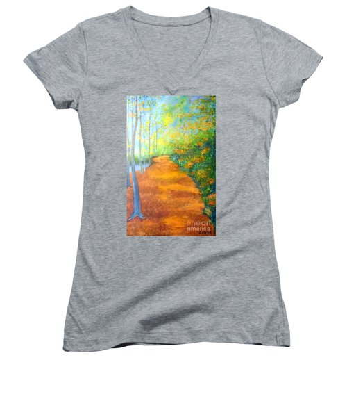Way In The Forest Women's V-Neck