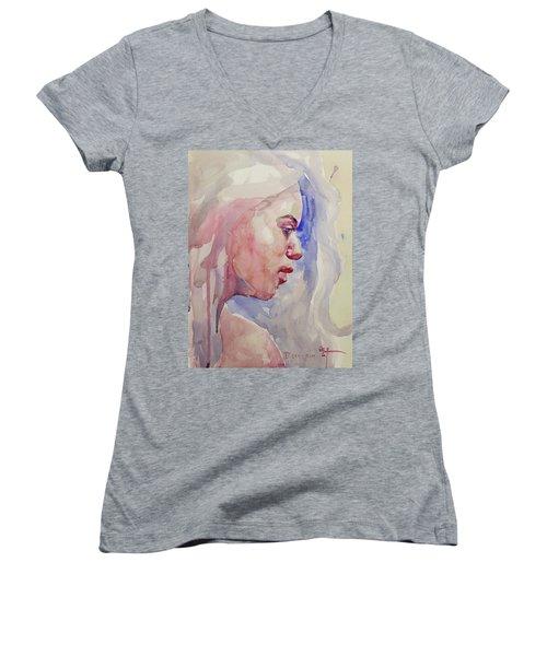 Wc Portrait 1618 Women's V-Neck T-Shirt