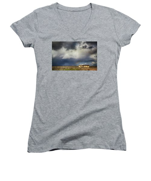 Women's V-Neck T-Shirt (Junior Cut) featuring the photograph We All Need A Little Hope by Laurie Search