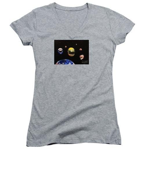 We Are Flying High   Women's V-Neck T-Shirt
