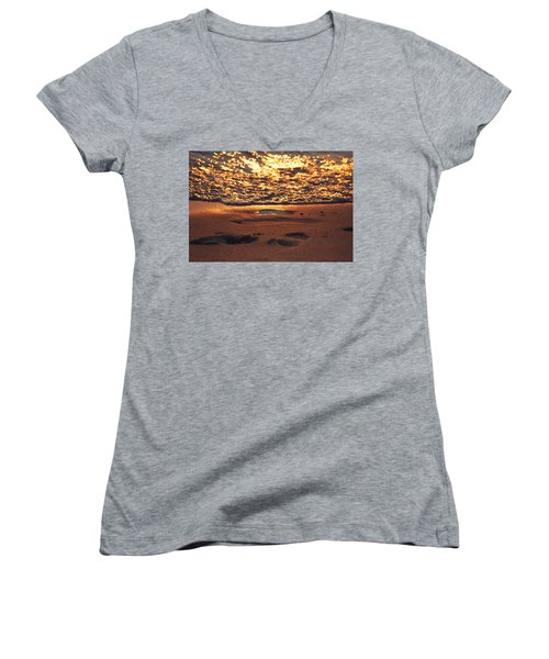 We Each Leave Our Mark, Momentarily Women's V-Neck (Athletic Fit)