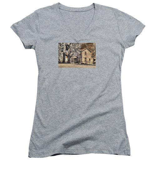 We Had Cows In The Yard Women's V-Neck T-Shirt (Junior Cut) by William Fields