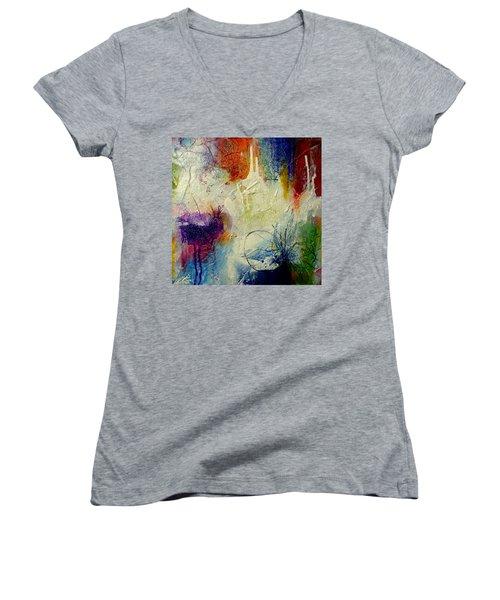 We Should Be Dancing Women's V-Neck T-Shirt (Junior Cut) by Tracy Bonin