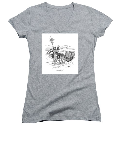 We Sue At Dawn Women's V-Neck