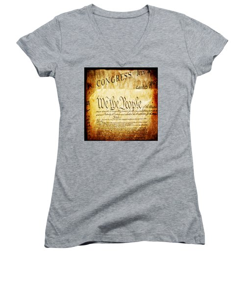 We The People Women's V-Neck T-Shirt