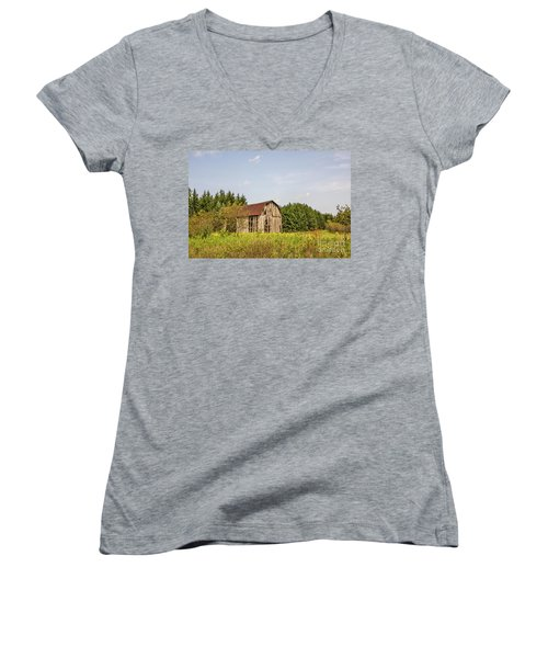 Weathered Barn Basking In The Summer Sun Women's V-Neck