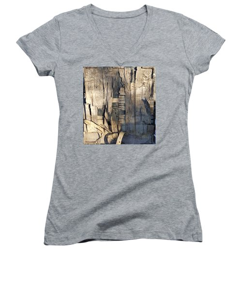Weathered Plywood Composition Women's V-Neck