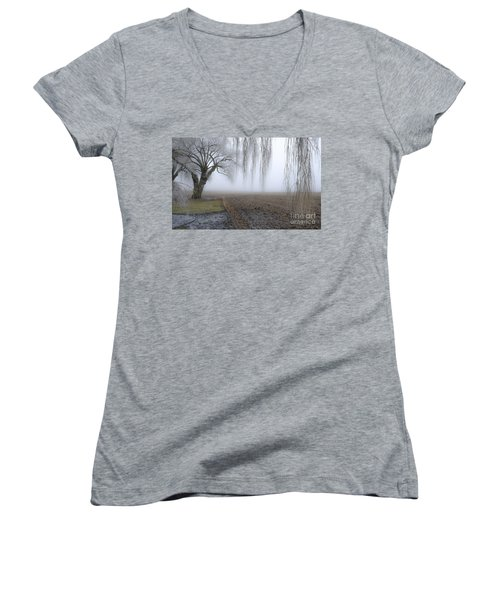 Weeping Frozen Willow Women's V-Neck T-Shirt