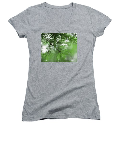Weeping Pine 2 Women's V-Neck (Athletic Fit)