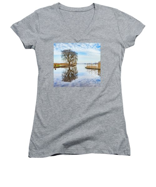 Weeping-willow-1 Women's V-Neck T-Shirt