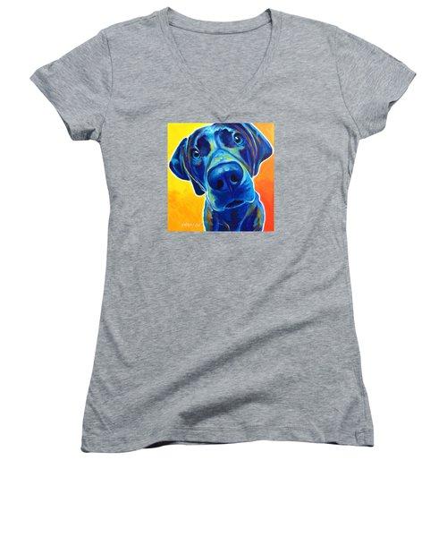 Weimaraner - Bentley Women's V-Neck T-Shirt