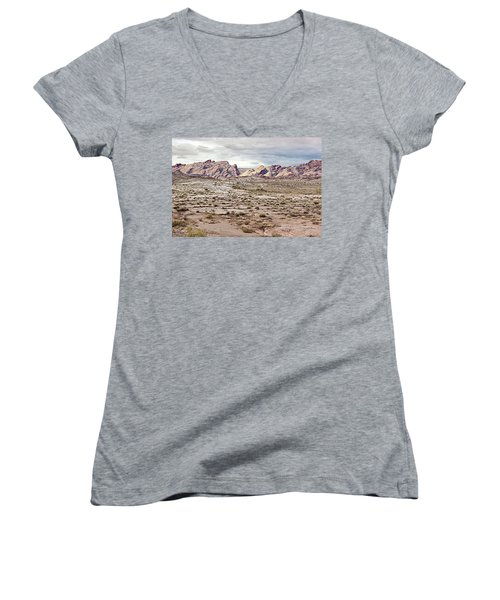 Weird Rock Formation Women's V-Neck T-Shirt (Junior Cut) by Peter J Sucy