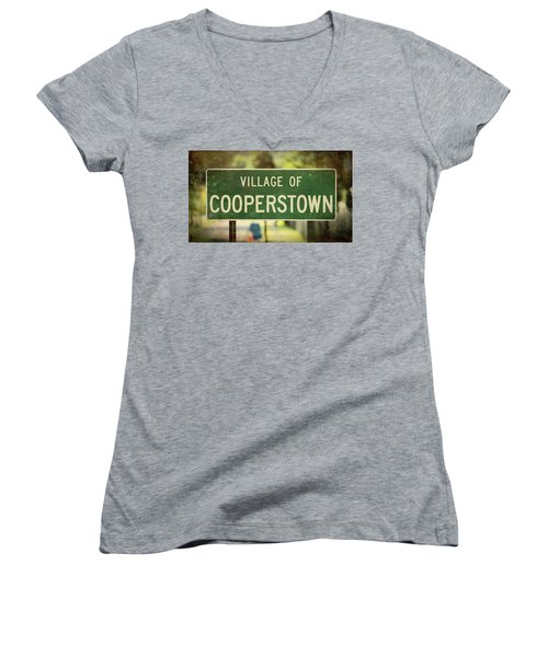 Welcome To Cooperstown Women's V-Neck T-Shirt