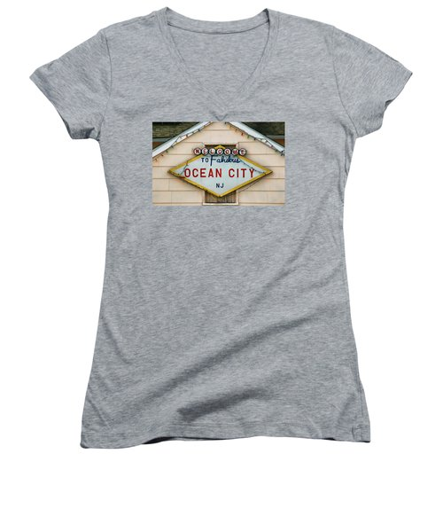 Welcome To Fabulous Ocean City N J Women's V-Neck
