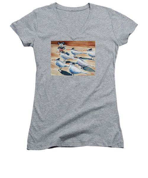 Welcome To Florida Women's V-Neck T-Shirt (Junior Cut) by Jean Cormier