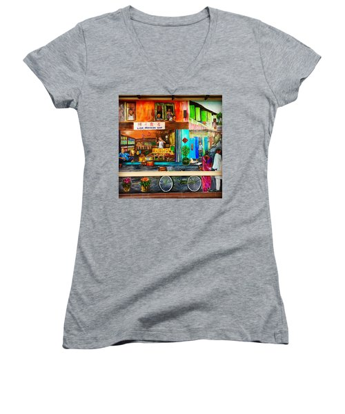Welcome To My Neighborhood Women's V-Neck (Athletic Fit)