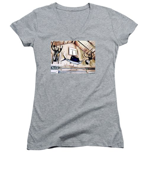Welcome To The Cabin Women's V-Neck T-Shirt