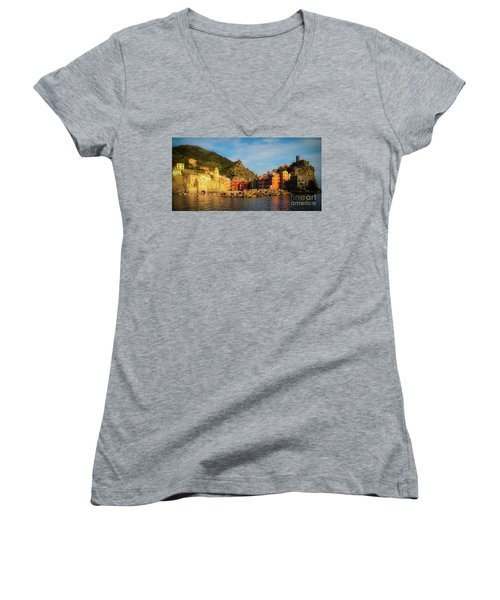 Welcome To Vernazza Women's V-Neck (Athletic Fit)
