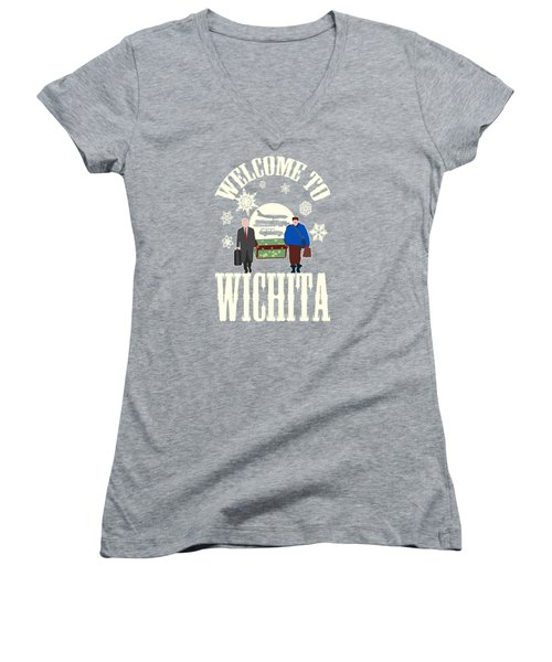 Welcome To Wichita  Women's V-Neck (Athletic Fit)