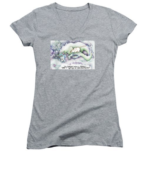 Well Documented Fpi Editorial Cartoon Women's V-Neck