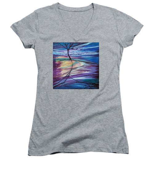Well Rooted Women's V-Neck (Athletic Fit)